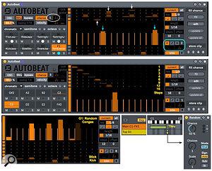 Screen3: Three setups for taking AutoBeat alittle bit outside the box.