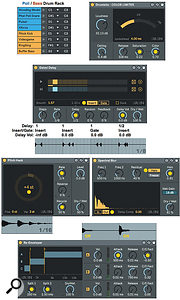Screen 3: Creative Extensions' five audio effects with the settings described in the main text.