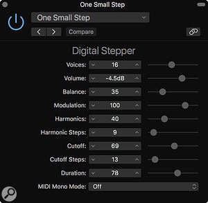 Screen 3: Digital Stepper may have been relegated to the Legacy folder but it offers some good organ sounds, FM-like pads and rhythmic timbral changes.