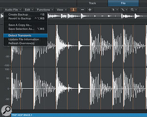 Clean up Logic's transient detection before creating an EXS instrument from a  beat.