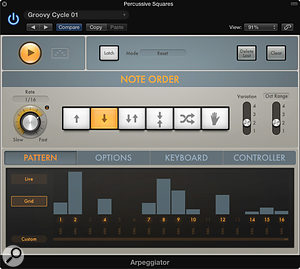 The new Arpeggiator in Logic Pro X is a sophisticated step up from previous versions.