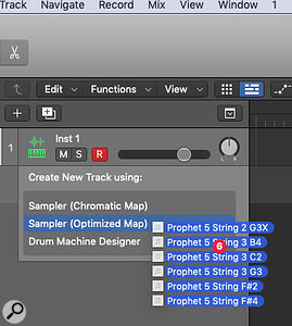 You can easily create sampled instruments out of your own recordings, whether they're separate per‑note files or asingle continuous recording.
