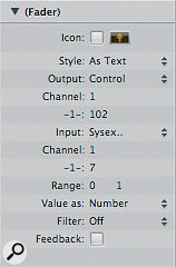 When creating a new Text Fader, set the Output to Control, and the Range to 0 1.