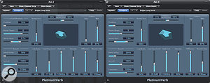 Using two reverb plug-ins panned hard left and hard right with slightly different settings can help to reduce the amount of reverb in the centre of your mix.