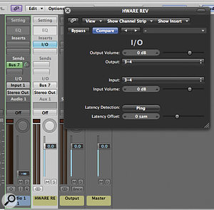 If you like to be able to hear alittle ambience when tracking, you can patch in ahardware reverb that is routed to be audible, but not captured during recording.