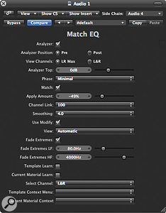 In Control View Settings, make sure the Fade Extremes box is ticked, and then adjust the settings as shown.