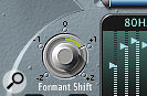 The EVOC 20 Filterbank has aFormant Shift control that can effectively change how masculine or feminine your vocal sounds.
