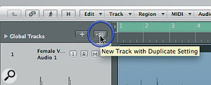 The New Track with Duplicate Settings button (and the handy help tag confirming that!).