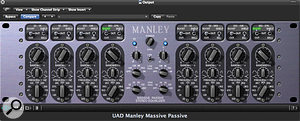 By using asingle high-quality EQ to add asubtle shelving boost on the mix bus and mixing into it, much as you would abus compressor, you can preserve DSP or CPU power in abig mix. It doesn't work for everyone, but it's well worth trying if you have access to something like the UA Manley Massive Passive (pictured) or perhaps one nice hardware EQ unit.