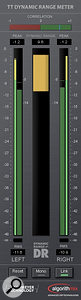 Some useful meters: SSL's I-XSM (left) reveals problems you won't always hear; Brainworx's bx_Meter (middle) can display separate dynamic range readings for the Middle and Sides signals; and Nugen's excellent VisLM-H (above) confirms to the new EBU broadcast standards on loudness.