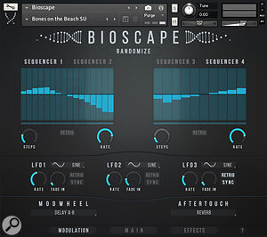 The Modulation options are both easy to use and very creative.