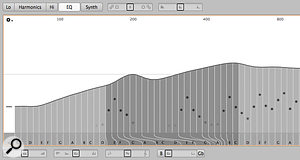 The EQ Editor makes it possible to shift individual formant frequencies.