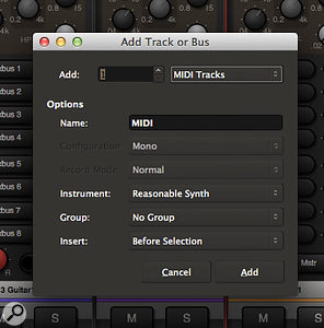Mixbus 3 now allows you to add MIDI tracks to your projects.