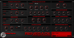 The Renegade virtual-analogue synthesizer.