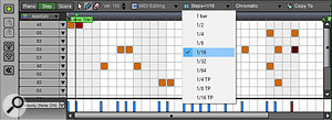 Version 7 of Mixcraft introduces a new Step Editor for pattern-based sequencing.