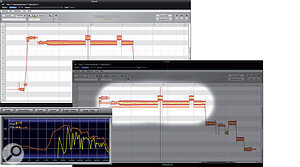 As you can see from the spectrum analyser screen (bottom left), the fundamental of the unprocessed vocal part is quite weak relative to the mid-range harmonics. The Formant tool  (see the 'Tools Of The Trade' box, eslewhere in this article) can be used to drag down its formants (bottom right), creating an impression that the part was sung more from the diaphragm than from the throat.