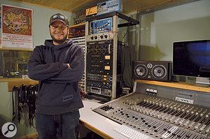 Paul Butler in his Steam Room studio.