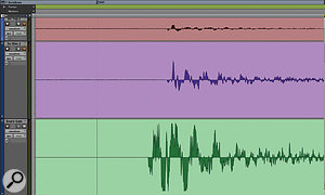 Highly accurate gating, without the risk of truncating the all‑important transient attack, can be achieved by copying the already implemented drum samples to anew track, moving these 10 milliseconds earlier, and then feeding them to the side‑chain of the relevant spot‑mic gate.
