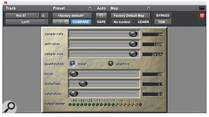 A small level of overdrive (in this instance provided by Digidesign's Lo‑Fi plug‑in) applied to the vocal can provide awarmer tonal character.