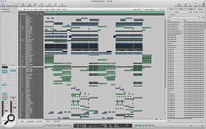 Alex's arrangement in Logic Express contained over 100 tracks — which might sound daunting but is common in this genre due to the amount of layering and multing techniques employed.