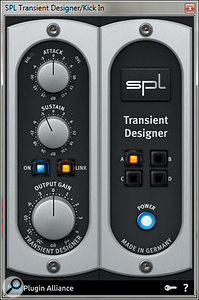 The SPL Transient Designer plug-in was used before the gate, to help the gate detect the part of the sound to 'let through'.