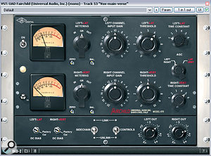 For the vocal on this track, Mike used a dual‑compressor processing chain which, in hardware form, is also favoured by top engineers such as Steve Churchyard and Tom Elmhirst: a Fairchild 670 valve limiter followed by Universal Audio's FET 1176LN.