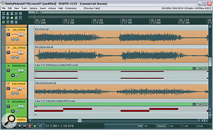 Layering acouple of very simple synth patches alongside the chorus guitar parts enabled Mike to make the guitar more tuneful, despite too much overdrive on the raw recordings.