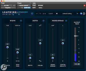 Leapwing Audio's StageOne stereo width plug‑in was used to spread the backing vocals.