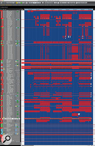 Despite the huge number of tracks, the arrangement has been well thought out and neatly structured. Roughly the top third of this screen is taken up by the vocals alone!