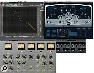 The bass sound was really the only major problem with the recordings. The final sound was achieved by radically EQ'ing the original part and hitting it hard with an analogue–style compressor and limiter, before blending the result with a  triggered synth patch and running the mix through a  chorus plug–in.