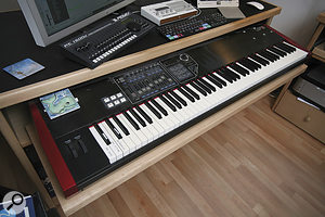 One dinosaur that's still marching is Russell's Korg MS20 synth, often layered with orchestral samples.