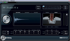 Having muted Alex's two EMT reverb emulations, I replaced them with a brighter and more natural-sounding drum-room ambience from Cubase's built-in Reverence convolution plug-in, following it up with some MS equalisation from DDMF's LP10 to aid with mono compatibility. The level of this reverb was then automated to support the ebb and flow of the musical structure.