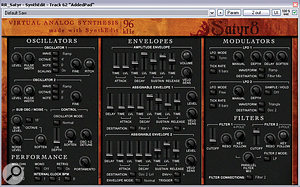 Mikko Hyyrylainen's freeware Satyr 8 synth was put though Schwa's Oligarc Phaser to enrich and widen the upper end of the guitar texture during the choruses.