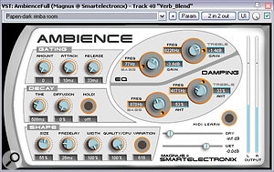 This remix had only one global send effect: ashort ambience reverb treatment courtesy of Magnus Jonsson's Smartelectronix Ambience.