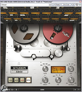 Two plug‑ins were used to add mix 'glue': Universal Audio's Studer A800 and URS' Console Strip Pro.