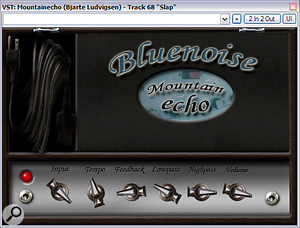 No traditional send reverbs were used on the Pocket Lips mix. Instead, Mike used two simple delay effects for the purpose of blending the vocals, one of which, Blue Noise's Mountain Echo simulated tape delay, can be seen here as used in the final remix.