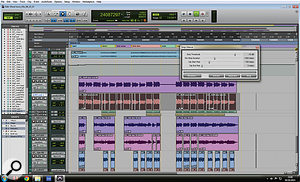 Some spill was removed from the backing vocal parts using Pro Tools' Strip Silence tool.
