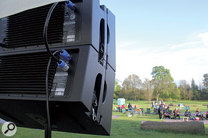With its wide horizontal dispersion, the HDA array proved a highly capable system at this outdoor event.