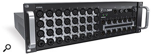 With 32 inputs and 14 freely assignable XLR outs, the DL32R should be able to cope with even very demanding large–scale productions.