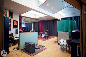 The live area in Studio 2 has been refurbished, with heavy drapes adding more control over the acoustics.