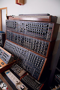 The Moog Series III modular is part of Alan Moulder and Flood's vast collection of synths.
