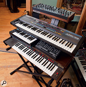 Two of Catherine Marks' favourite keyboards are the Roland Juno 106 and Solina String Ensemble.