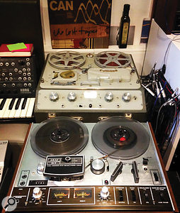 The engineer and producer has a passion for vintage tape machines.
