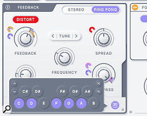 Rift can also create pitch‑based effects, aided by the Frequency Pitch Map options in the Feedback and Filter panels.