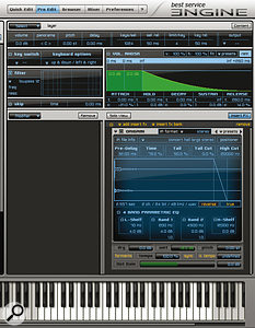 Engine's Pro Edit Section provides many sound sculpting possibilities.