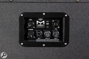 The connection options include two analogue inputs, an analogue stereo link output (which actually carries the right–hand side of a  stereo signal) and a  USB port, allowing you to connect a  Mac or PC running a  guitar–amp modelling software package.