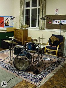 The drums had been recorded in a very nice-sounding church hall.