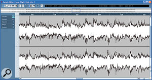Typically, individual instrument tracks (left) present relatively predictable and repeatable dynamic variations, whereas full mixes (right) are much more complex and unpredictable.