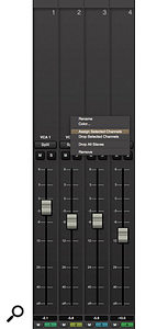 The new VCA fader system offers unlimited faders, automation and very easy channel assignment options.