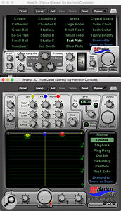 Harrison have their own range of plug-ins that you can add to MixBus, including the Gverb and 3D Triple Delay that form the Essentials bundle.